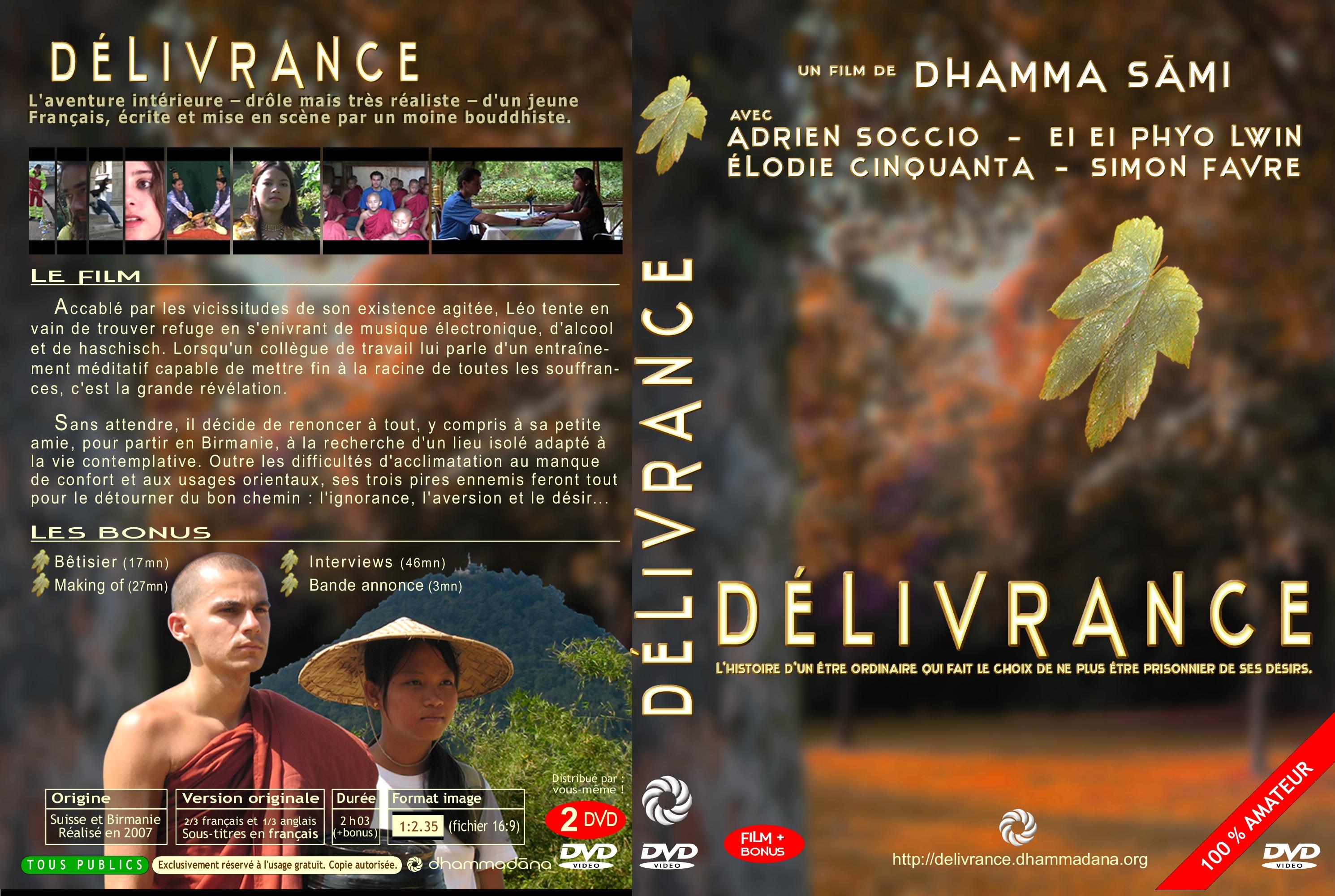 affiches et jaquette dvd  u2014 d u00c9livrance